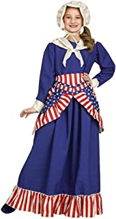 Girls Betsy Ross Historical American Costume