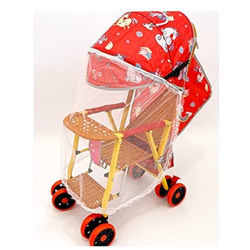 jiji Cochecito de bebé cochecito de bambú y ratán ligero carrito de verano reclinable y plegable silla de mimbre de bambú para niños Cochecitos de bebé Cochecito compacto (Color: C)