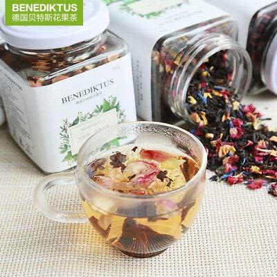 Chinese Tea Flower Rose Roselle Black Tea 【贝特斯 慕尼黑玫瑰花果茶58g/瓶 】慕尼黑玫瑰红茶 果粒茶水果干茶瓶