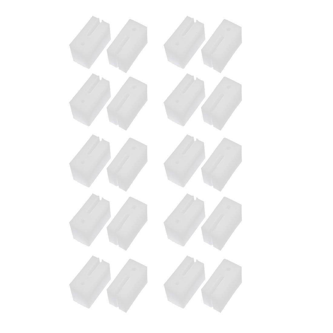 sourcing map Bloque de sujeción de la polea para ventanas de puerta 41mmx21mmx28mm de plástico blanco 20pcs: Amazon.es: Bricolaje y herramientas