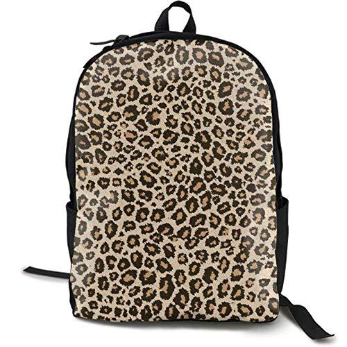 XCNGG Zaino per stampa full frame per adulti Zaino casual Zaino per scuola Lightweight Durable Backpack Daypack for School Travel Hiking, Cool Leopard Skin