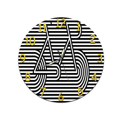 LUOYLYM Wohnzimmer Dekorative Uhr Digitale Wanduhr Acryl Uhr Stumm Bewegung Uhr Wandaufkleber Uhr Randlose Wecker D-365 (Luminous Hands) 28cm