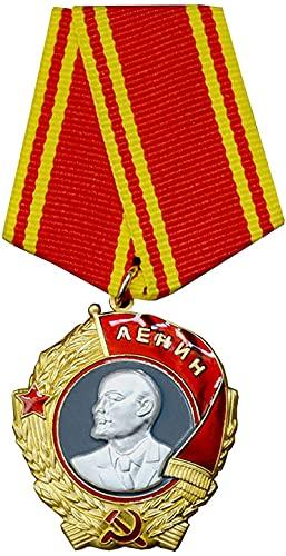 FTYYSWL Medalla Militar Orden de Lenin Medalla Soviética Rusia URSS Premio más alto, insignia de medalla de la URSS, regalos militares, réplica
