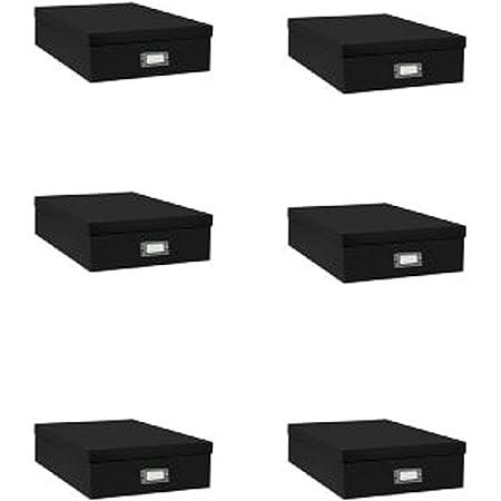 Scrapbook Storage Box Black 14.75 Inch x 13 Inch x 3.75 Inch
