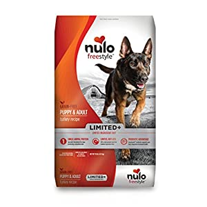 Nulo All Natural Dog Food: Freestyle Limited Plus Grain Free Puppy & Adult Dry Dog Food – Limited Ingredient Diet for Digestive & Immune Health – Allergy Sensitive Non GMO Turkey Recipe – 10 lb Bag