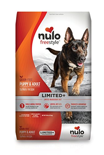 Nulo All Natural Dog Food: Freestyle Limited Plus Grain Free Puppy & Adult Dry Dog Food - Limited Ingredient Diet for Digestive & Immune Health - Allergy Sensitive Non GMO Turkey Recipe - 4 lb Bag (51LT04)