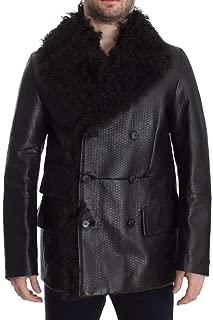 Black Lambskin Leather Jacket Trenchcoat