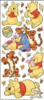 Disney Large Flat Stickers-Pooh W/Characters (並行輸入品)