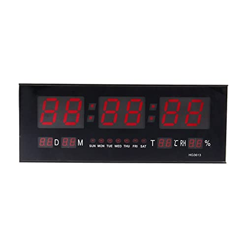 Reloj de pared grande Red LED Digital alarma del reloj temporizador de la batería con la