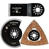 プロ仕様 マルチツール 替刃 ダイヤモンド 超硬 チップ 3点セット 陶器 タイル 石材 モルタル