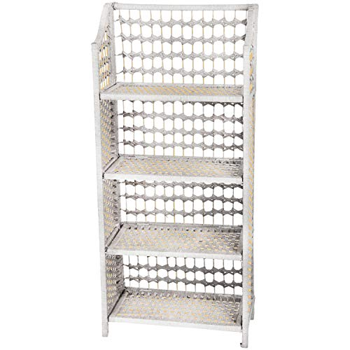 Oriental Furniture 43' Natural Fiber Shelving Unit - White