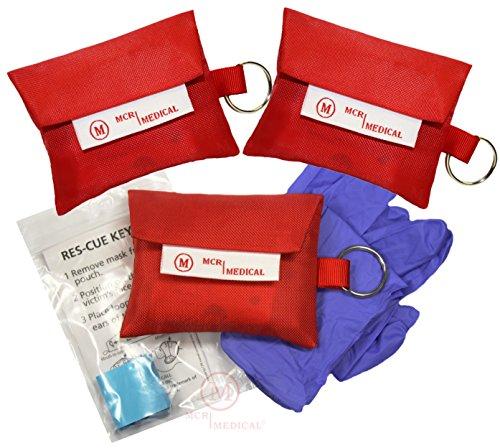 CPR Mask Keychain with Nitrile Glov…