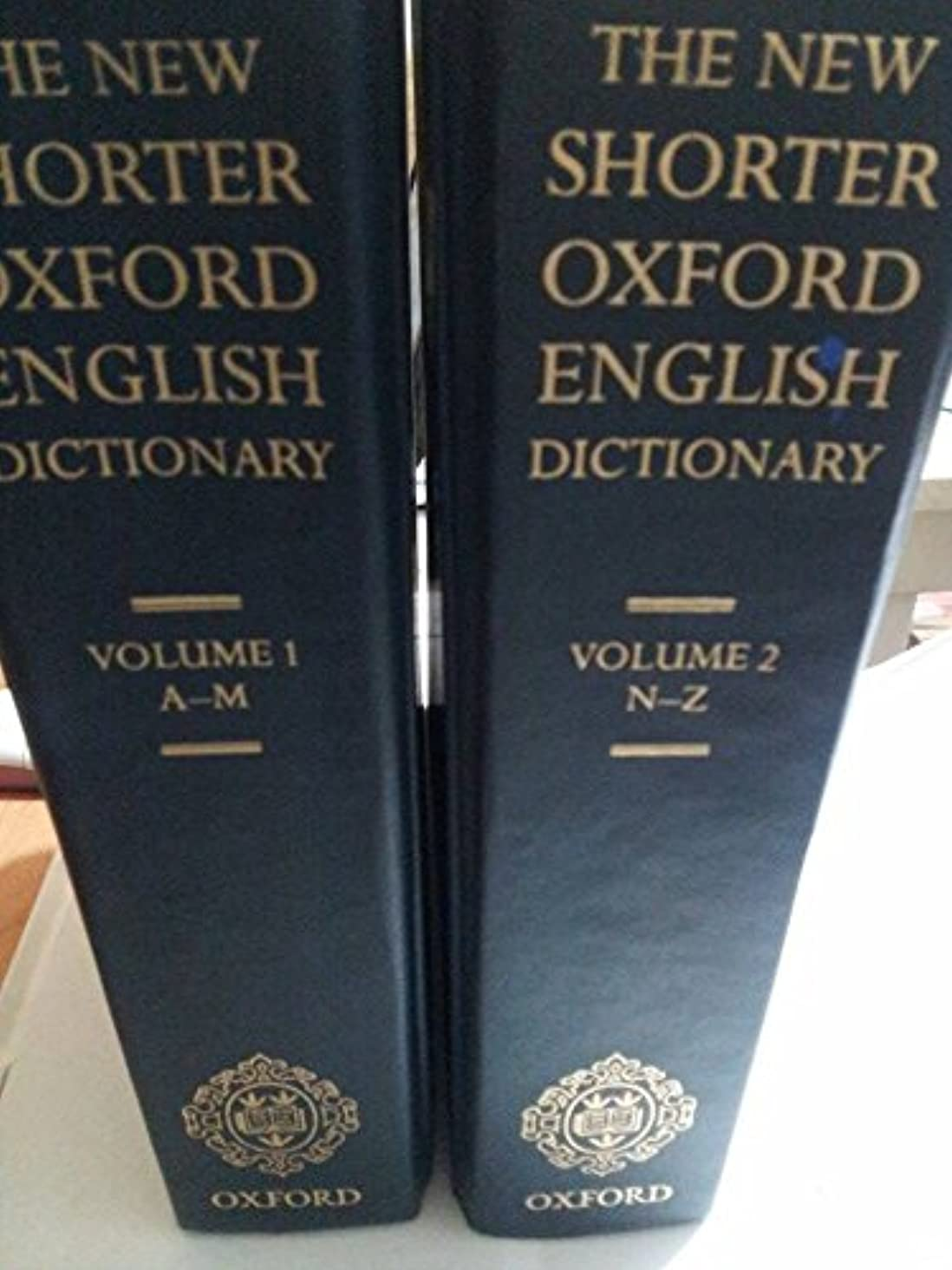 New Shorter Oxford English Dictionary On Historical Principles - Volumes 1 & 2