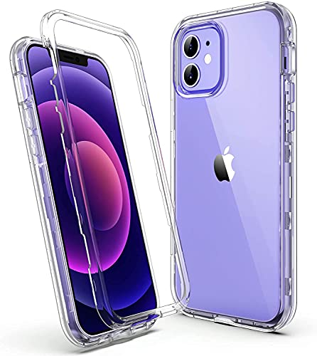 ULAK Carcasa brillante diseñada para iPhone 12/12 Pro resistente a prueba de golpes Carcasa de TPU suave para Apple iPhone 12/iPhone 12 Pro 6.1 pulgadas - Transparente