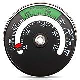 Frienda Thermomètre de Poêle Magnétique Thermomètre de Tuyau de Poêle à Feu pour Le Compteur de Température pour Tuyau de Cheminée en Bois Rond Four (1)