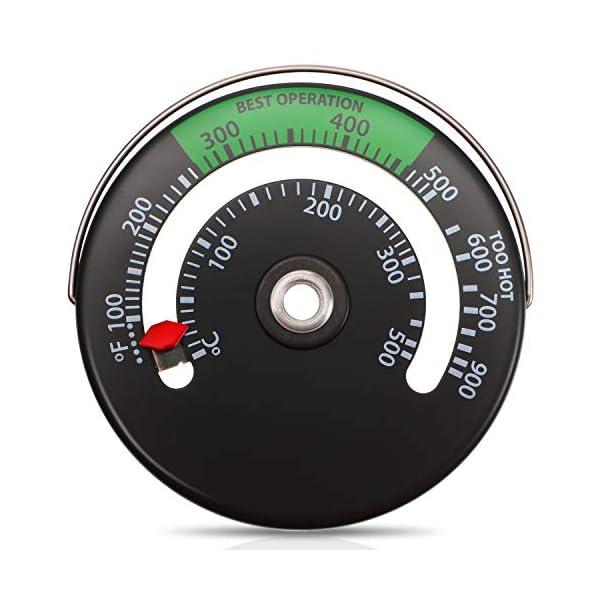 Termómetro de Estufa Magnético Termómetro de Tubo de Estufa de Fuego Medidor para el Medidor de Temperatura del Horno de…