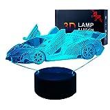 Lámparas de ilusión 3D LED para coche, luces nocturnas, co