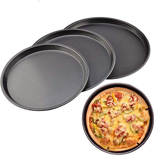 IYBLHDF Pizzastein Pizza-Backform rund tiefer Teller Teller antihaftbeschichtet...