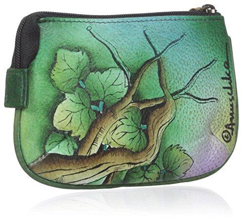 Anuschka Medium Organizer Pouch / Coin Purse    Genuine Leather, Hand-painted Original Art