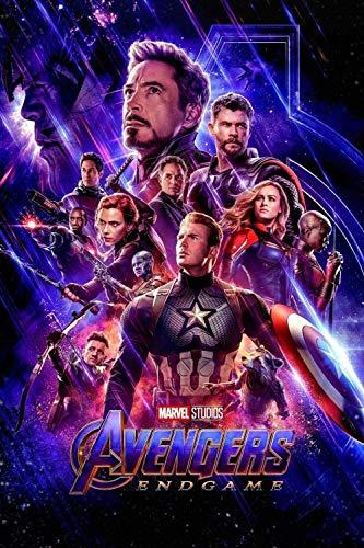 1000 piezas rompecabezas para adultos Avengers: Puzzle de la celebración de la celebración del cartel de la película de la película para los adolescentes de los niños DIY Arte de la pared Deco