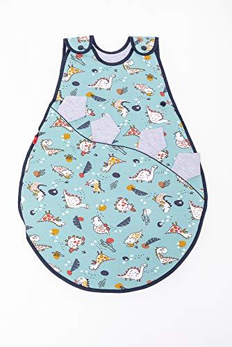 Linden 307104 Jersey-Schlafsack DUO 60 cm, DINO