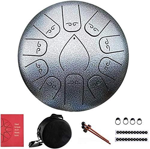 Hand Pan Drum met tas, muziek boek, hamers, pikhouwelen, sticky notes ideaal om te kamperen, Drum merkt 12-11