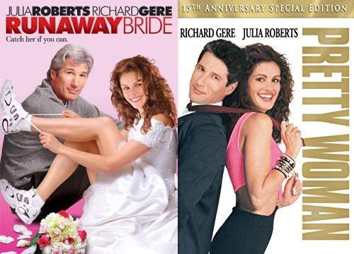 Catch Her romantic Pretty Woman DVD Julia Roberts Romance + Runaway Bride 2 Pack date night Double Feature