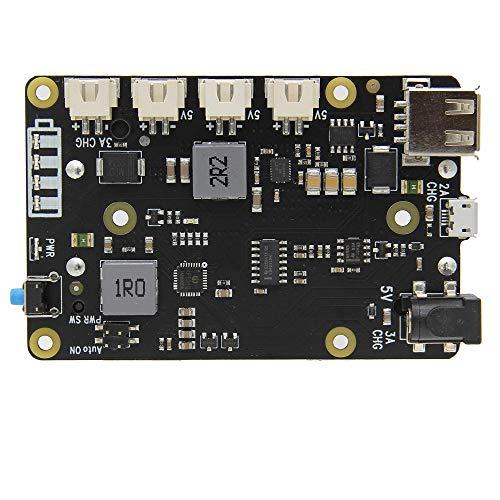 Output Smart Uninterruptible Power Management Expansion Board for Raspberry Pi 4B/3B+/3B X705 UPS HAT 18650 5.1V 8A
