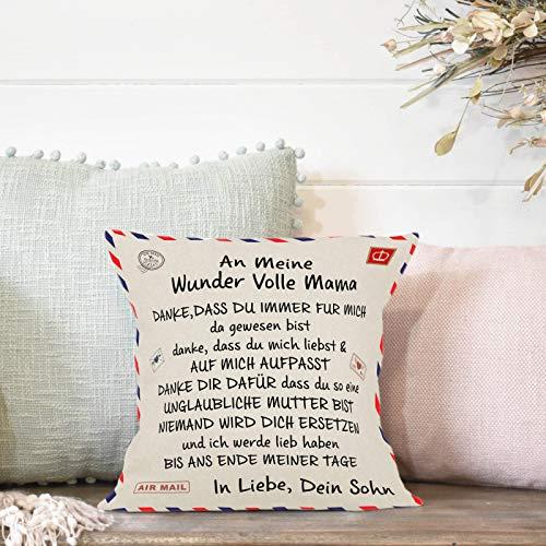 Wancooy Fundas de almohada con diseño de letra dulce para sofá, cama, dormitorio, sala de estar, decoración del hogar, 45,7 x 45,7 cm (profundidad)