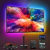 Govee Iluminación LED WiFi TV con cámara, Smart RGBIC para TV de 55 a 65 pulgadas PC, funciona con Alexa y Google Assistant, control de aplicaciones, luces y sincronización de música, adaptador alimentado