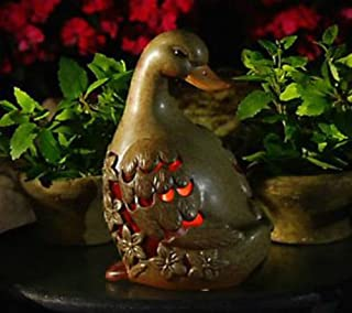 QVC Home Reflections H199231 Garden Decor DUCK Luminary Flameless Candle