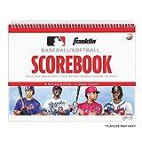 Franklin Sports Baseball + Softball Scorebook - Score Keeping Book for Stats + Coaching - Official Baseball + Softball Scorekeeper Book - 25 Game Book