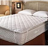 Terry Cotton King Size Double Bed Mattress Protector 100% Waterproof Dust Proof Mattress Protector Double Bed King Size Cover (72 x 75 Inches)