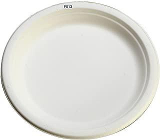使い捨て 丈夫な紙皿 エコでおしゃれな定番サイズ eモールド プレート 23cm P013 100枚入