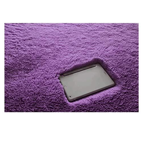 Tapis JXLBB Mélangé Salon Canapé Table Basse Chambre Balcon Chambre De Chevet Épaississement Lavable en Machine Épaississement Non-Slip Violet
