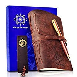Genuine Leather Journal in a Gift Set