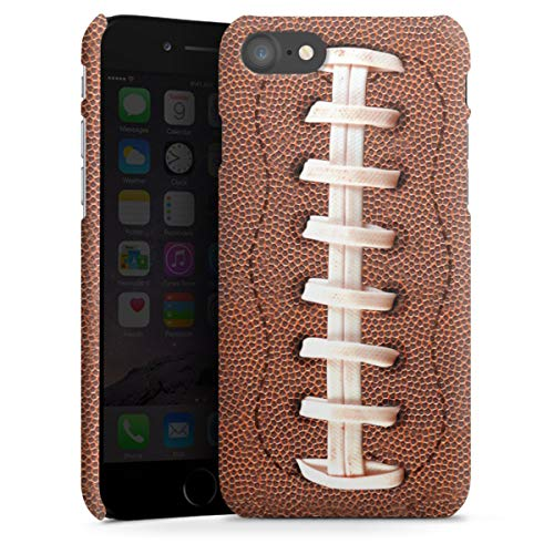 DeinDesign Premium Case kompatibel mit Apple iPhone 8 Smartphone Handyhülle Hülle matt Fußballer Ball American Football