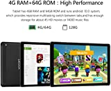 YOTOPT Tablette Tactile 10 Pouces 4G LTE, Android 9.0 Certifié par Google GMS Tablette PC 64Go, 4Go...