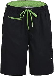 Nonwe Men's Beachwear Swim Trunks Quick Dry Zipper Pockets Lining
