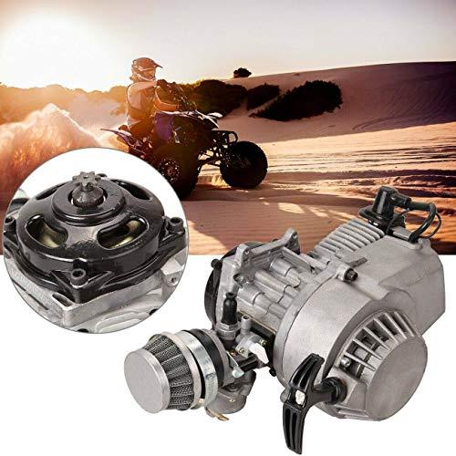 Ambienceo - Motor de 2 tiempos para minimoto, de 49 c. c., carburador, filtro de aire, arranque con cuerda, para Dirt Bike, Quad