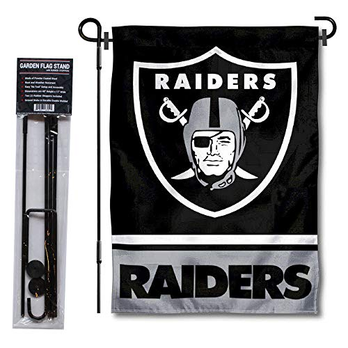 WinCraft Las Vegas Raiders Garden Flag with Stand Holder