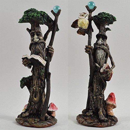 Albero alto ENT coppia con libri & Scrolls Greenman decorative Garden mito H20CM