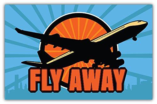 SkyBug Vliegtuig Vlieg weg Bumper Sticker Vinyl Art Decal voor Auto Truck Van Window Bike Laptop