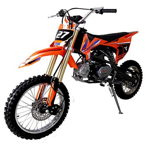 X-PRO 125cc Dirt Bike Pit Bike Kids Dirt Pitbike 125 Dirt Pit Bike (Orange)