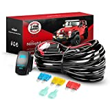 Nilight 10014W LED Light Bar Wiring Harness Kit 14AWG Heavy Duty 12V 5Pin Rocker Laser On Off Waterproof Switch Power...