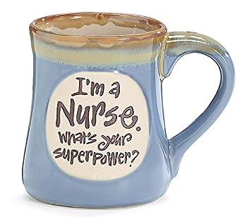 1 X I m a Nurse Superpower Light Blue 18 Oz Mug