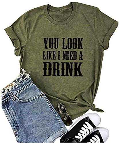 Country Music Shirt for Women You Look Like I Need a Drink T Shirt...