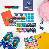 Pack etiquetas personalizadas para marcar ropa y objetos PATRULLA CANINA (114 uds)