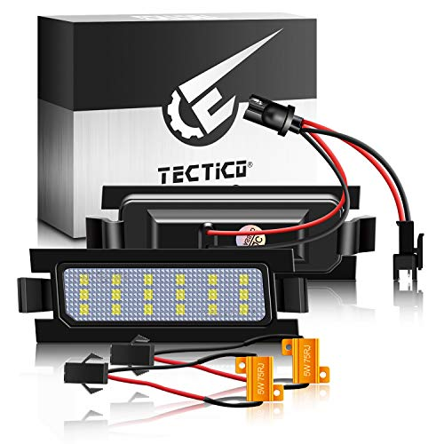 TECTICO LED Luces matrícula coche E-Mark ECE 6000K Blanco puro canbus No hay error Luz de matrícula para Pro Ceed 2 Accent Elantra GT Hatchback I30 (GD) CW (GD) 5D hatchback wagon,2 Piezas