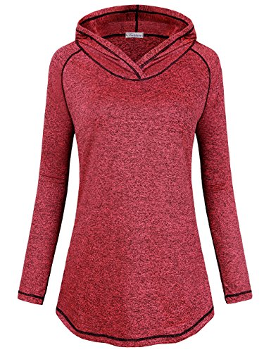 Faddare Sweatshirts for Women, 2017 Fashion Boutique Ladies Long Sleeve Hoodie Pullover Sweatshirt Moisture Wicking Smooth Outdoor Tops Petite Blouse,Red S
